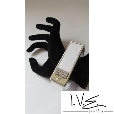 I.V.E. táblás 3X6 Swarovski köves bőr karpánt