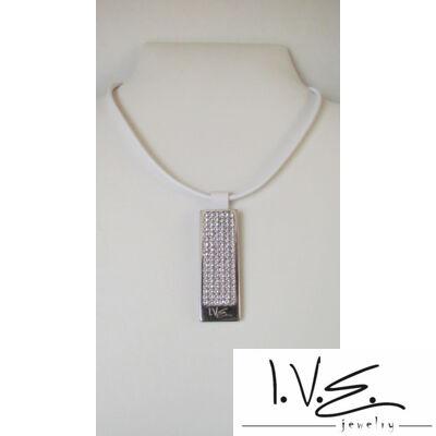 I.V.E. TELI Swarovski köves bőr nyaklánc