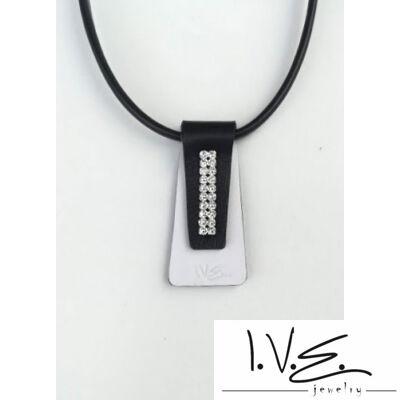 Nyakkendő Swarovski® köves bőr medál